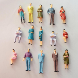 Architecture Mixed Painted Figures