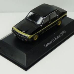 Renault 12 Alpine Black w/Gold Stripe